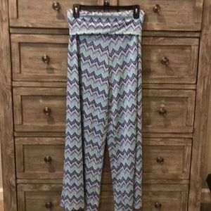 Ikat print flow pants.